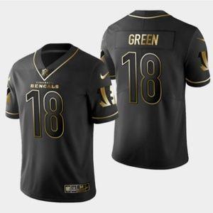 Bengals #18 A.J. Green Golden Edition Jersey